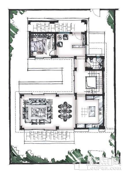 320平户型 - 联排别墅
