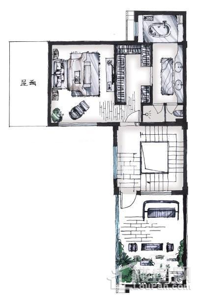 232-c1 户型 - 联排别墅