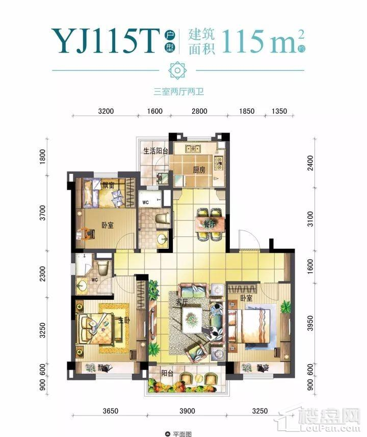 永兴碧桂园YJ115T户型