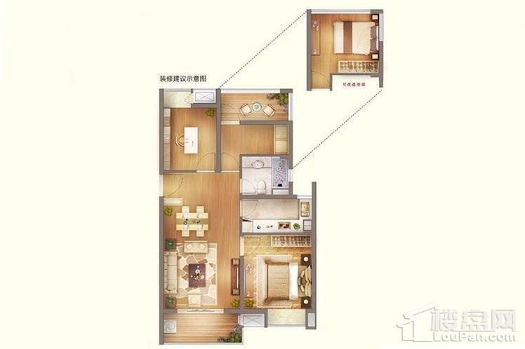 C2户型 - 高层93平
