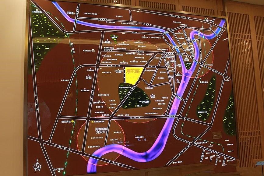韶关摩尔城位置图