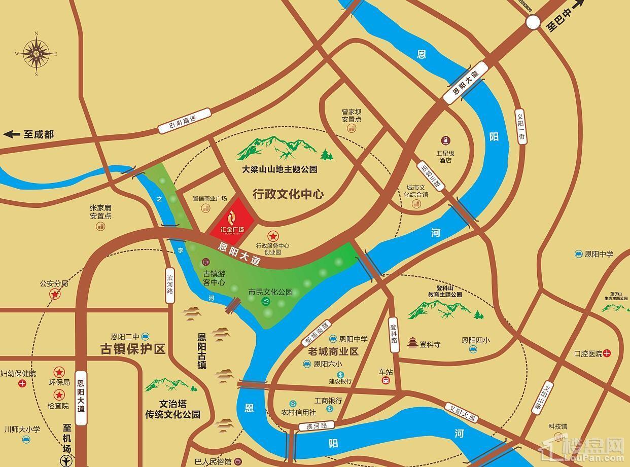 汇金广场位置图