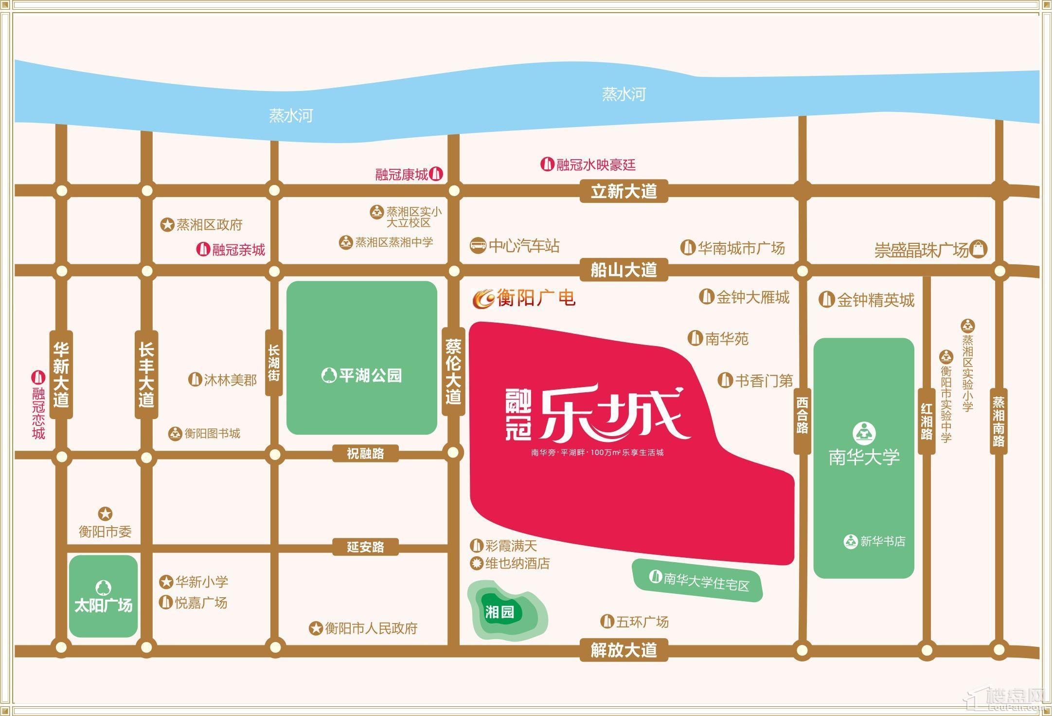 融冠·乐城位置图