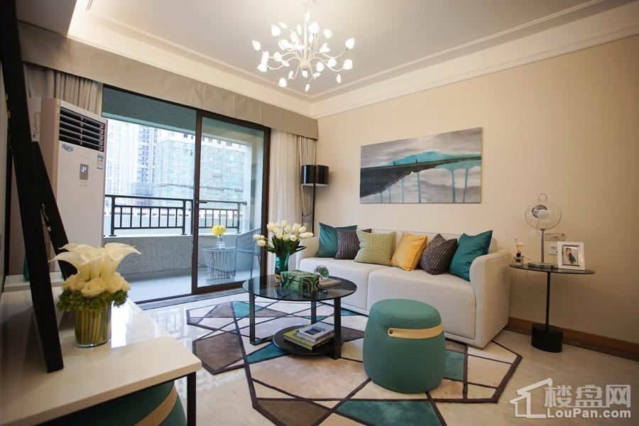中海九玺87㎡A2户型样板间之卫生间之客厅