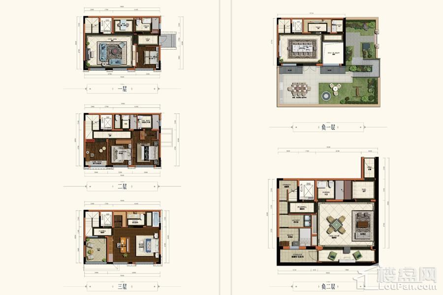 项目联排别墅A户型