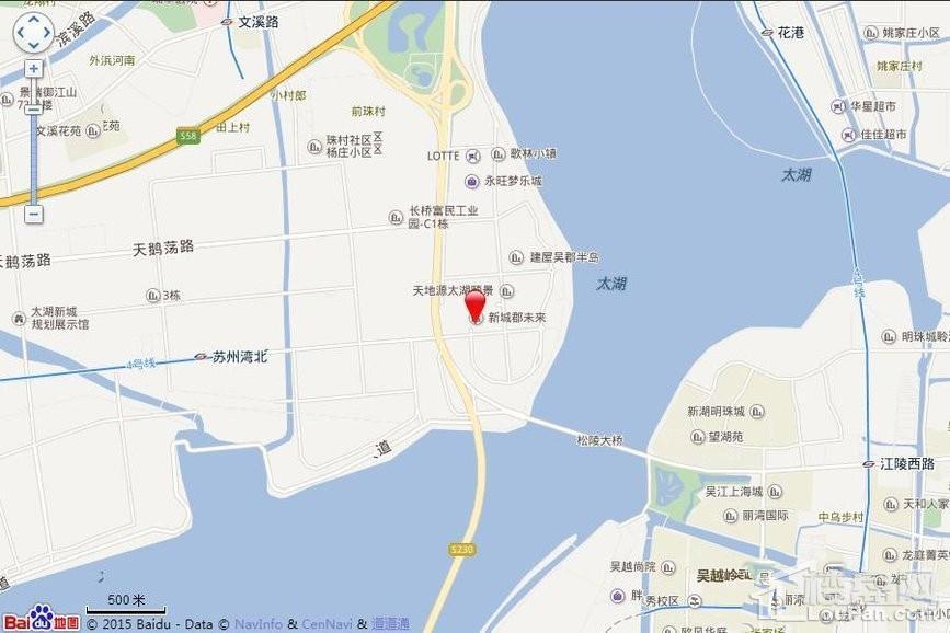 新城湾语城位置图