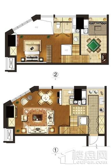 2#loft68平D户型