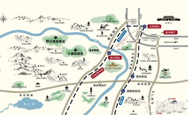 北京恒大京南半岛位置图