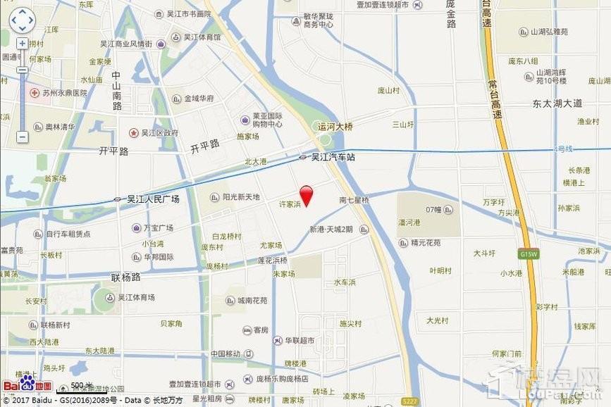苏高新地产天城花园位置图