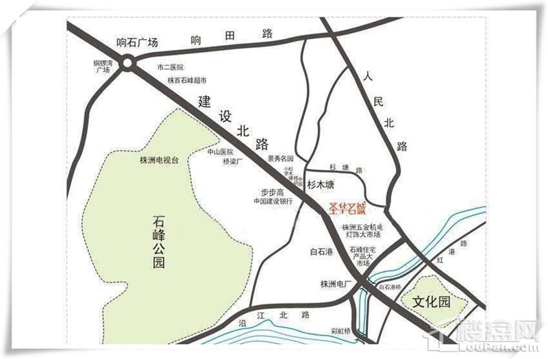 圣华名城位置图