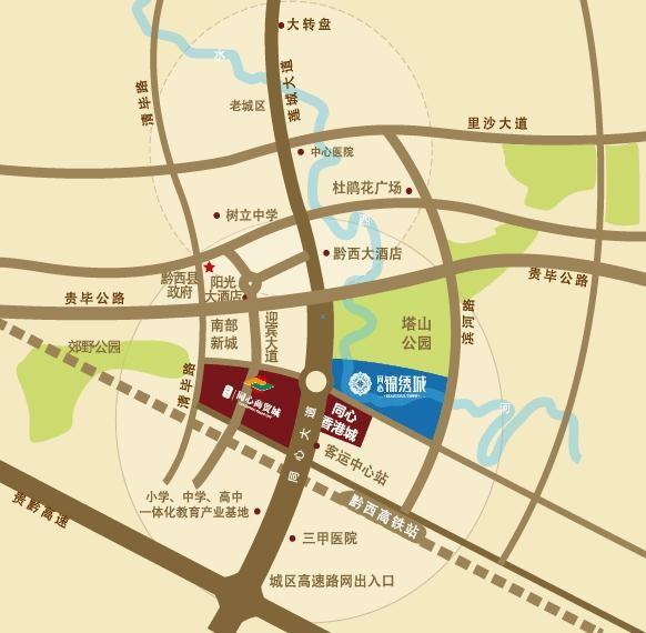 同心锦绣城位置图