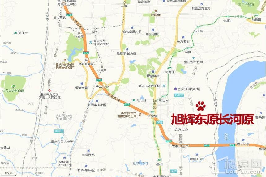 旭辉东原长河原位置图