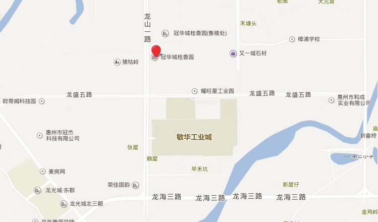 冠华城·桂香园位置图