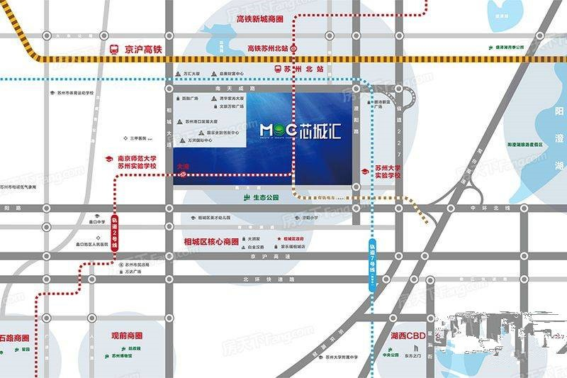 MOC芯城汇位置图