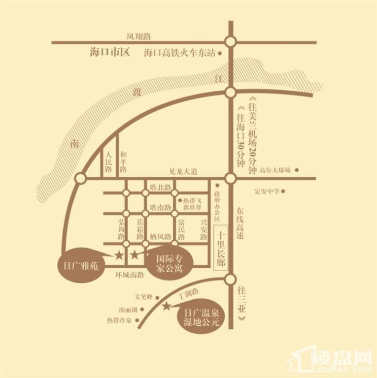 海南日广凤羽林温泉位置图