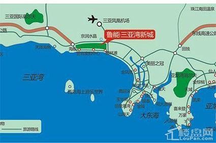 海南鲁能三亚湾位置图
