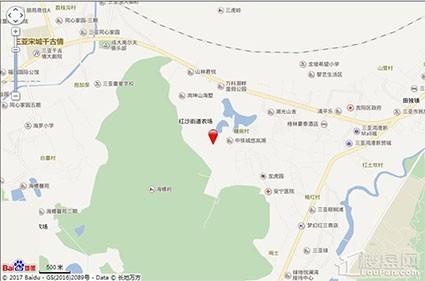 海南万科湖畔度假公园位置图