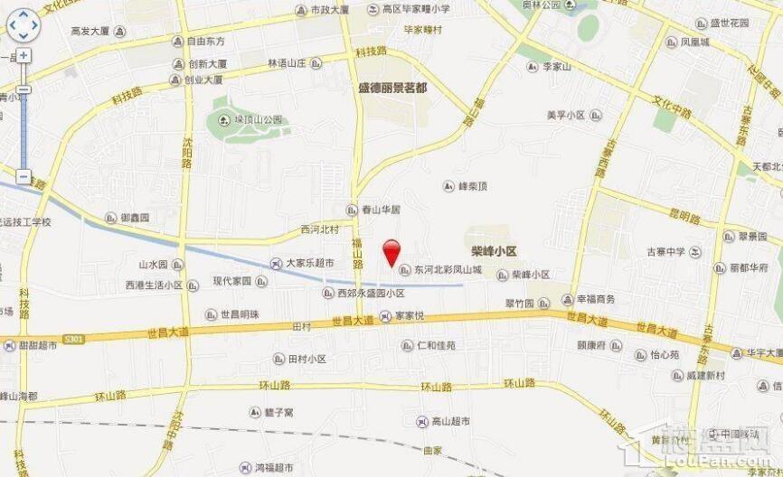 彩凤山城位置图