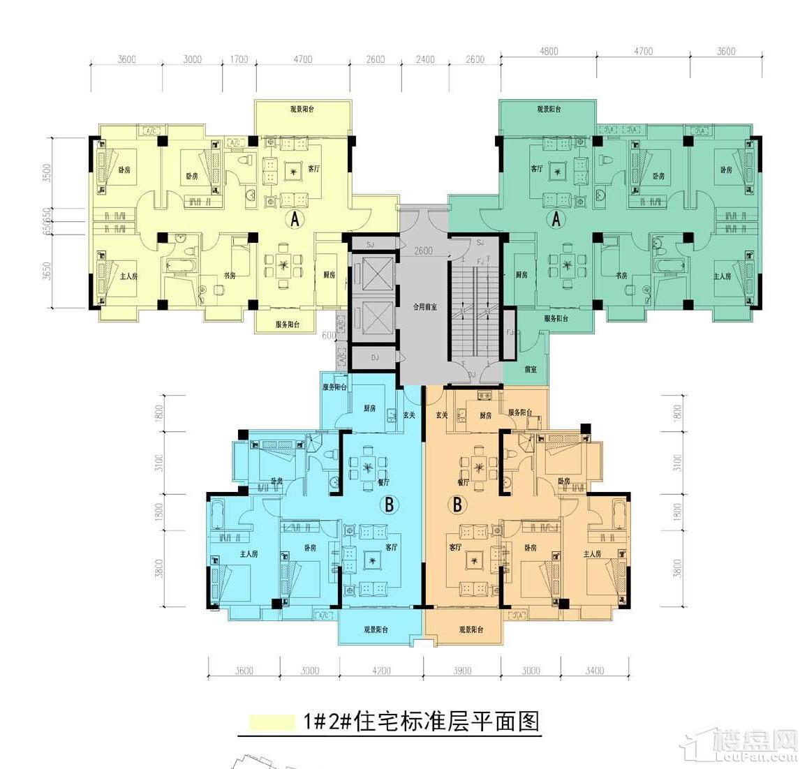 中耀·林溪湾1#2#栋户型图