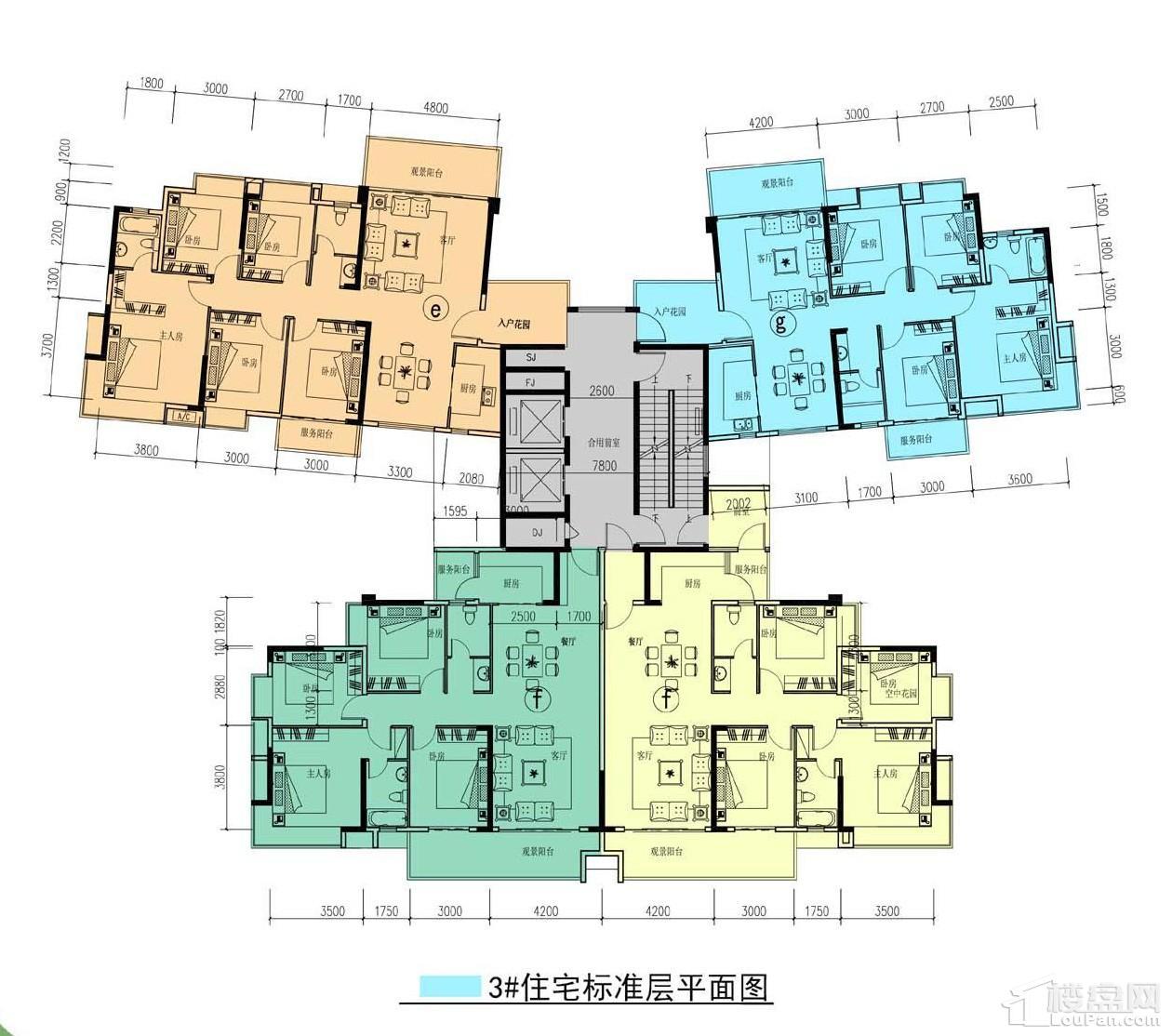 中耀·林溪湾3#栋户型图