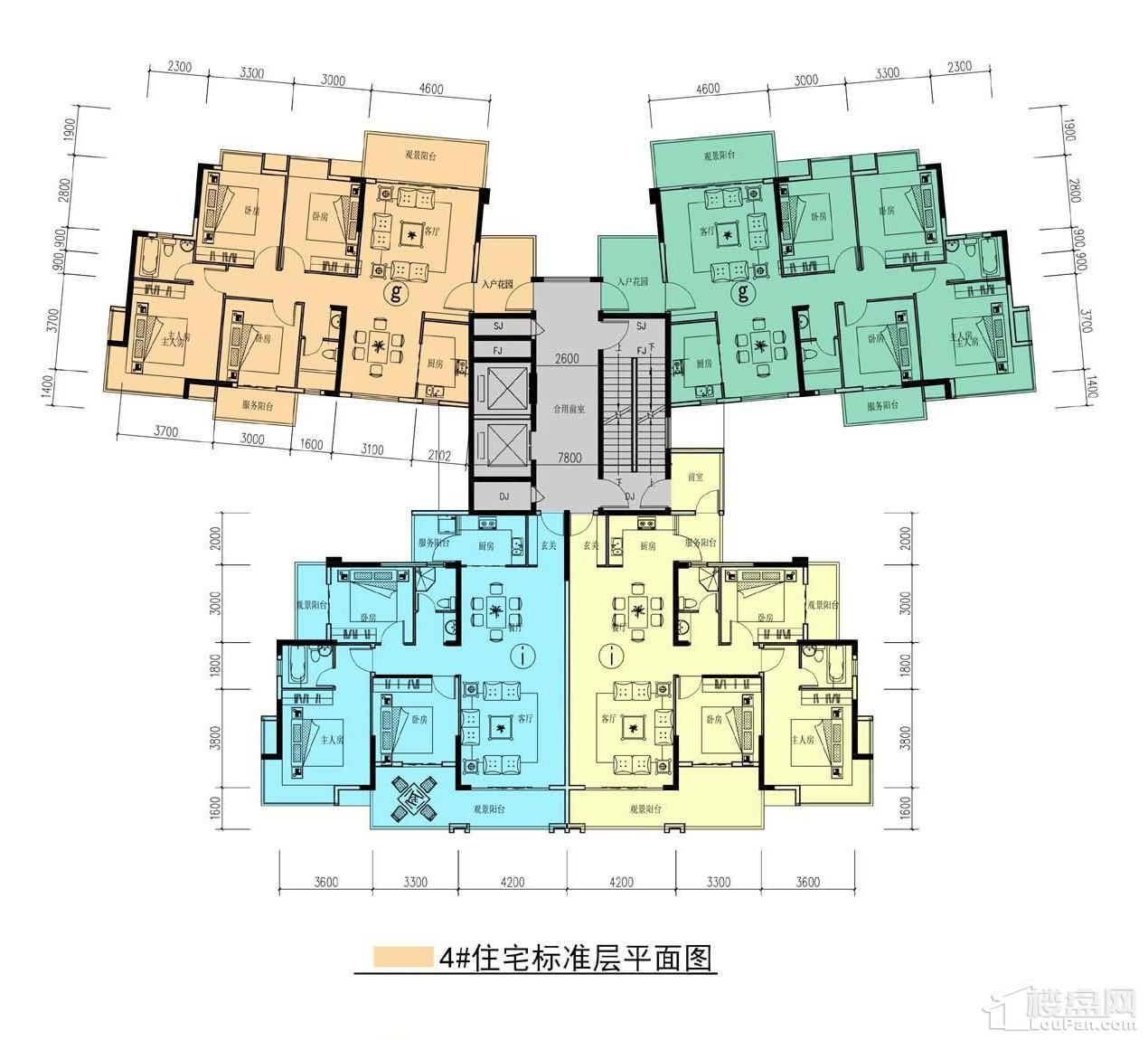 中耀·林溪湾4#栋户型图
