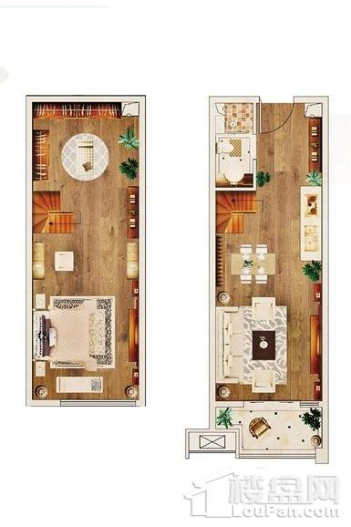 1#LOFT公寓49平标准层D户型