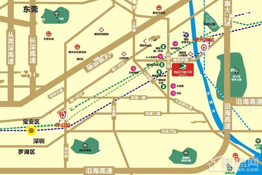 奥园开城首府位置图