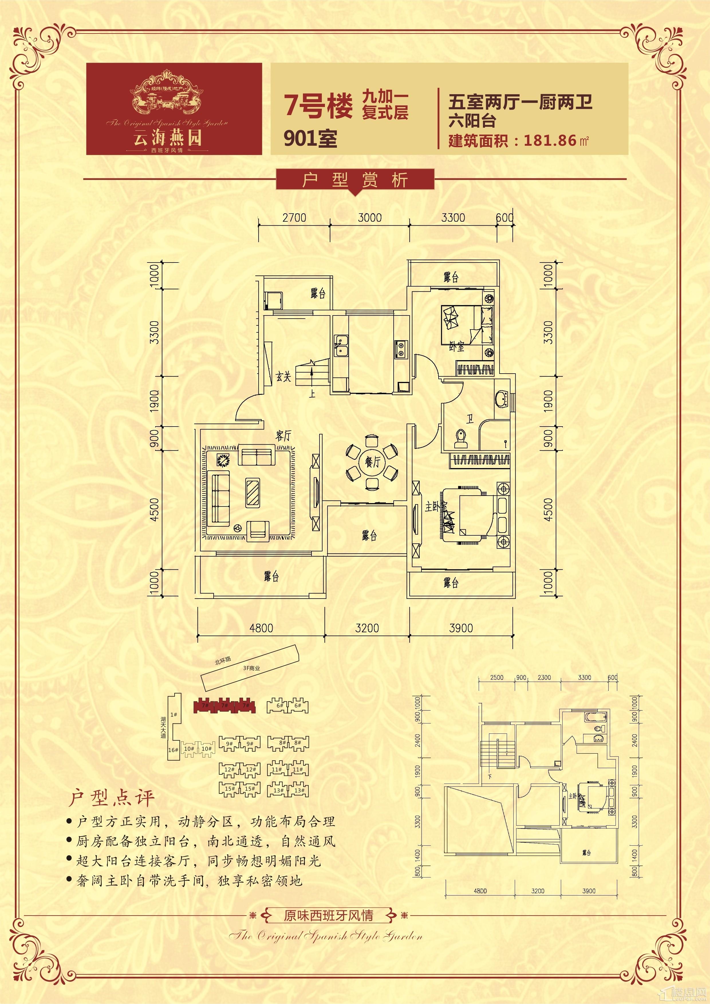 户型(7号楼)九层复式