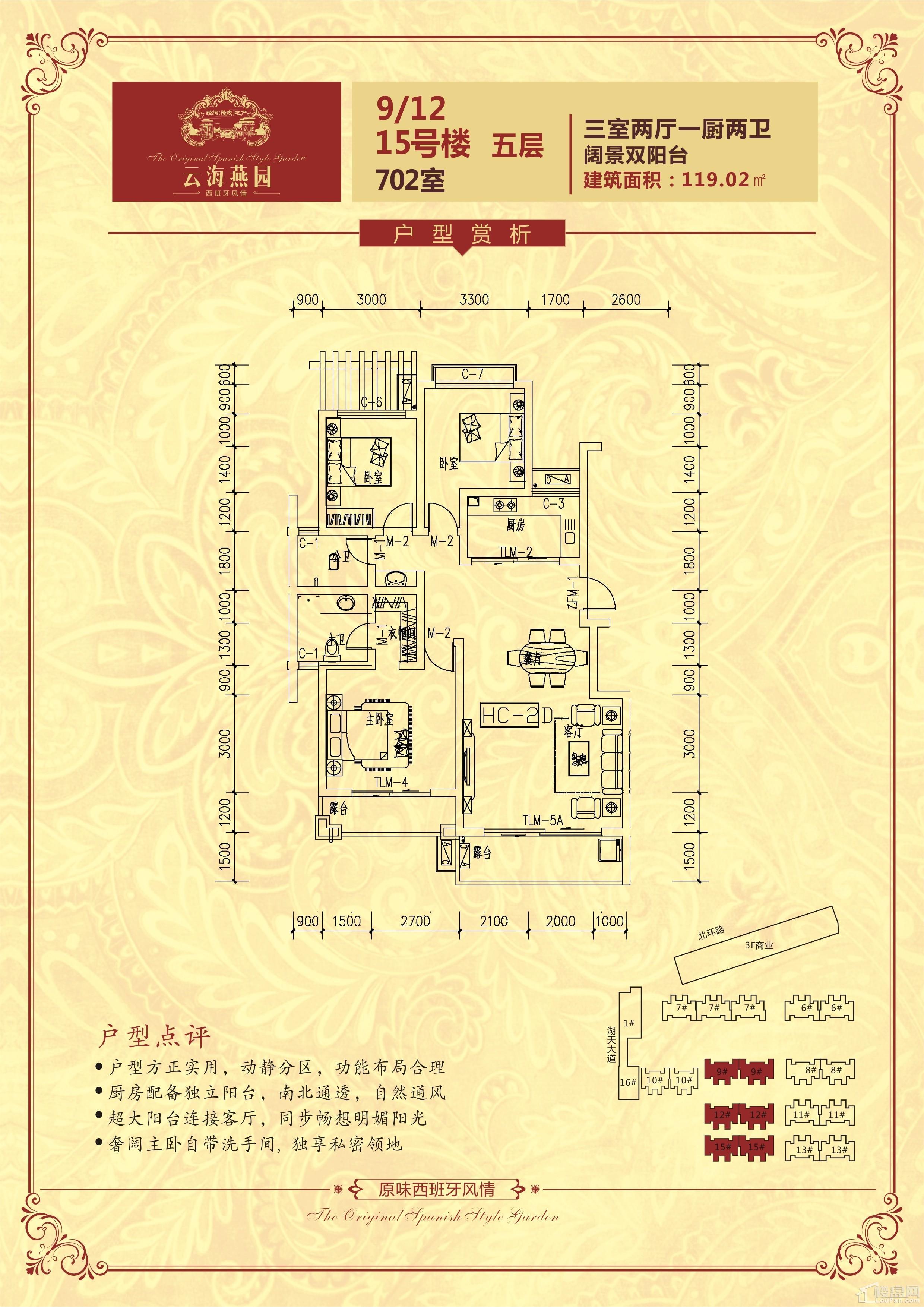 户型(9/12/15号楼)五层