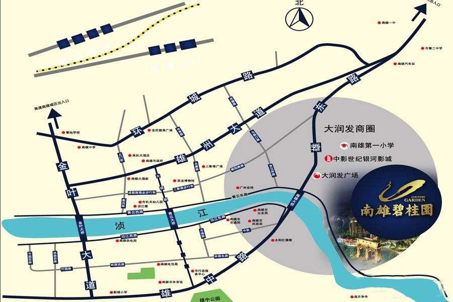 南雄碧桂园位置图
