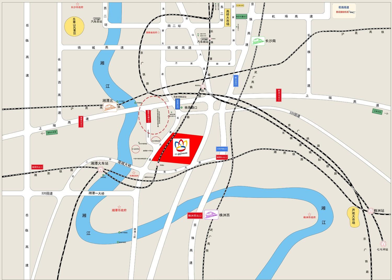 岳塘国际商贸城位置图