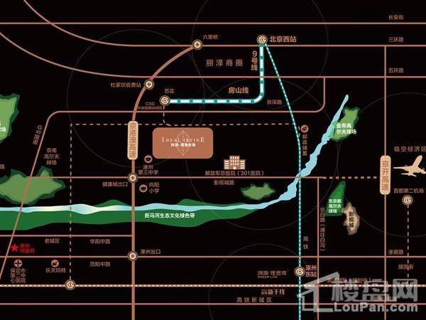 鸿坤理想尔湾位置图