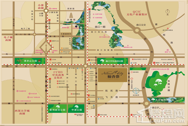 楠香郡位置图