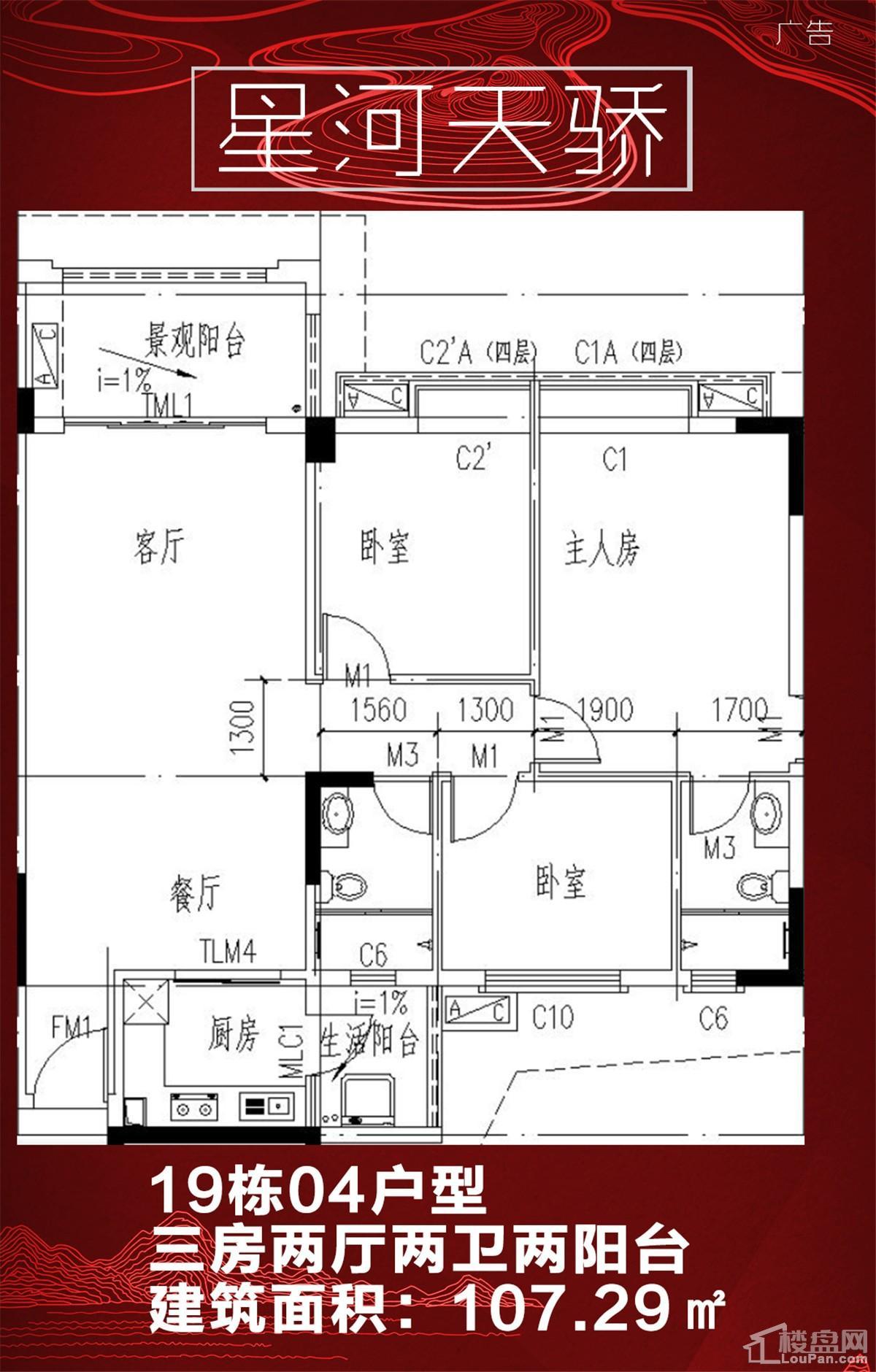 星河天骄19栋04户型