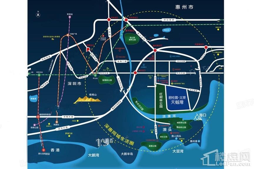 碧桂园·太东天樾湾位置图