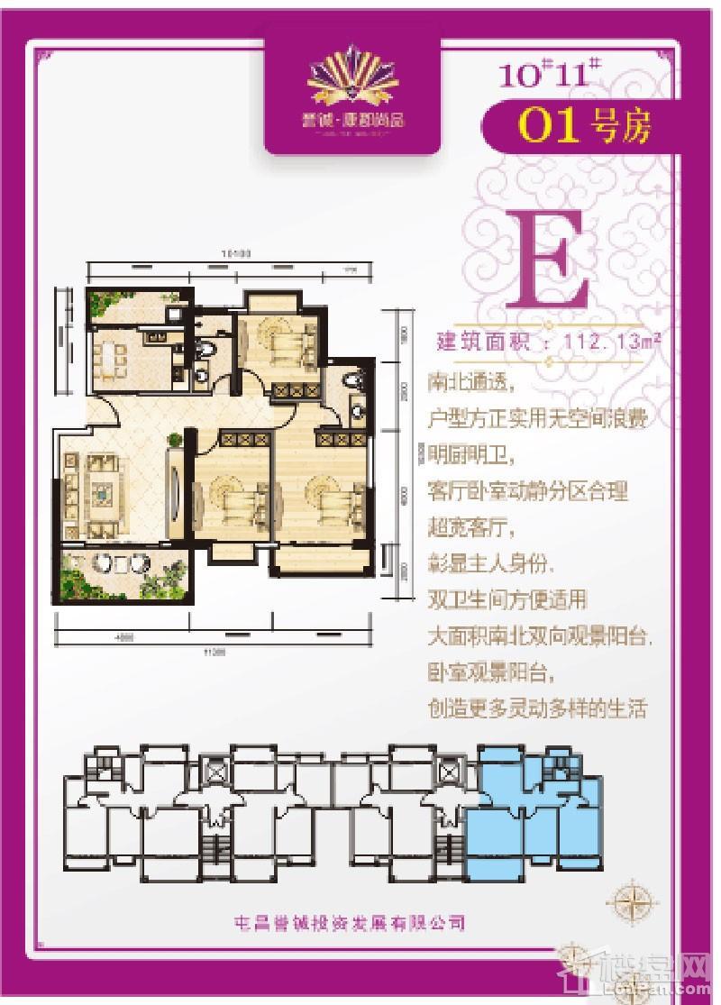 誉铖·康郡尚品E-01户型图
