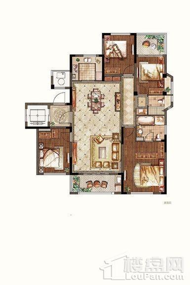 洋房1-3#边户三层东边