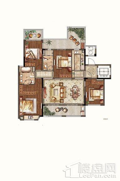 洋房1-3#中间户三层东边