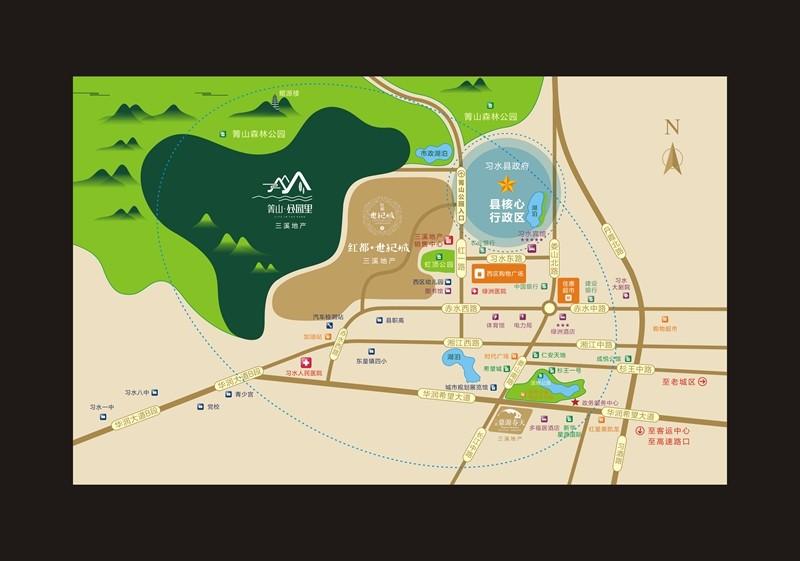 箐山·公园里位置图