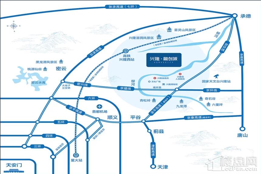 兴隆·融创城位置图