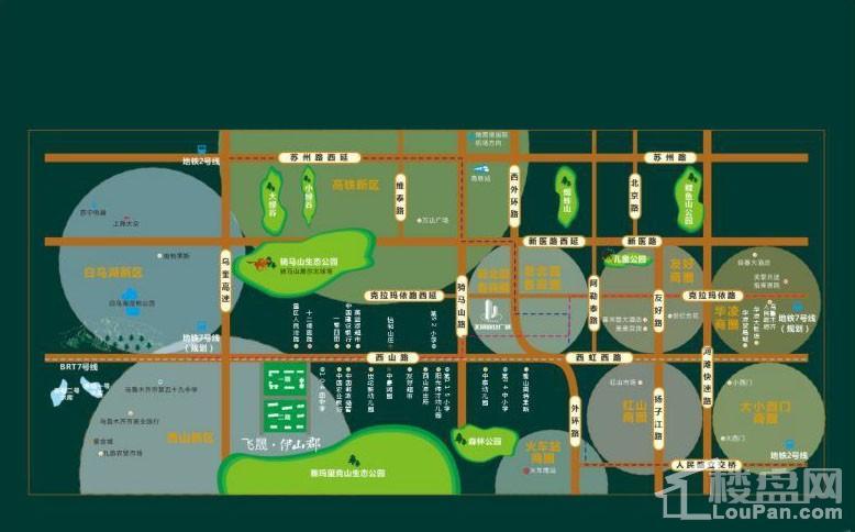 飞晟·伊山郡位置图