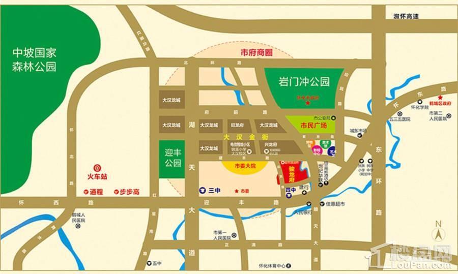 大汉龙城位置图