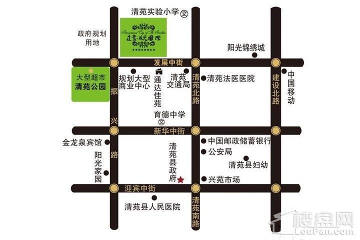 泽龙·阳光国际位置图