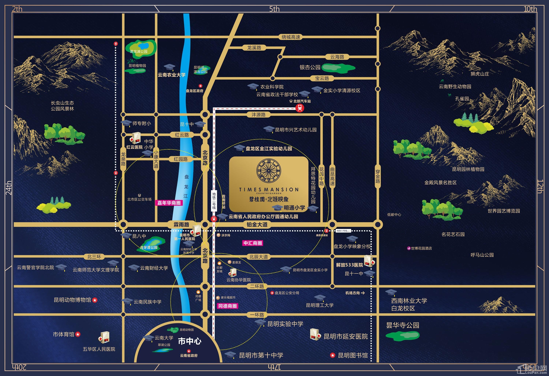碧桂园北城映象位置图