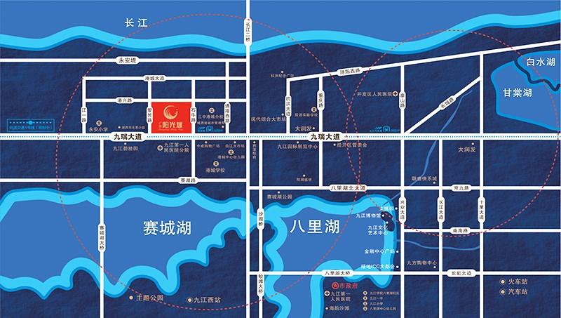 广隆·阳光城位置图