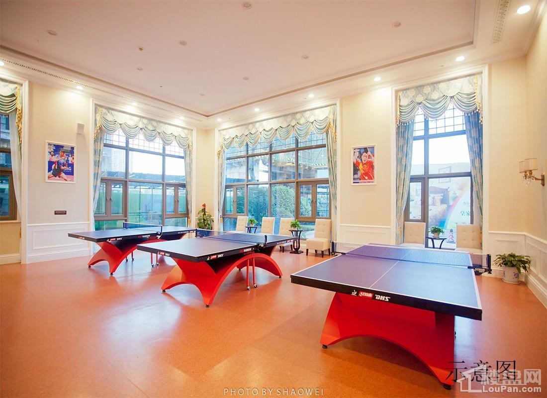 湘潭恒大御景半岛乒乓球室实景图