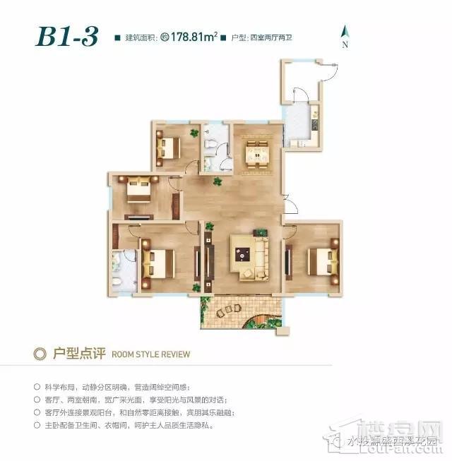 北区高层B1-3户型