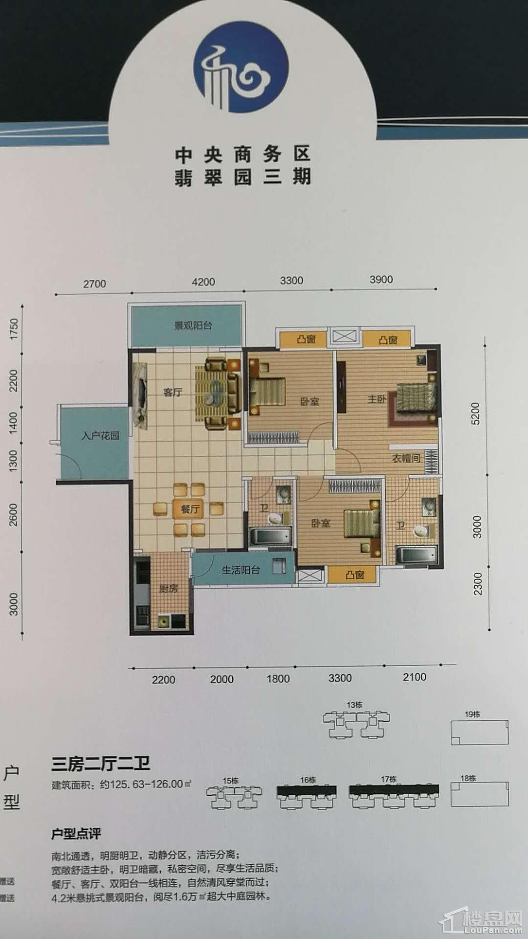 中央商务区翡翠园三期户型图