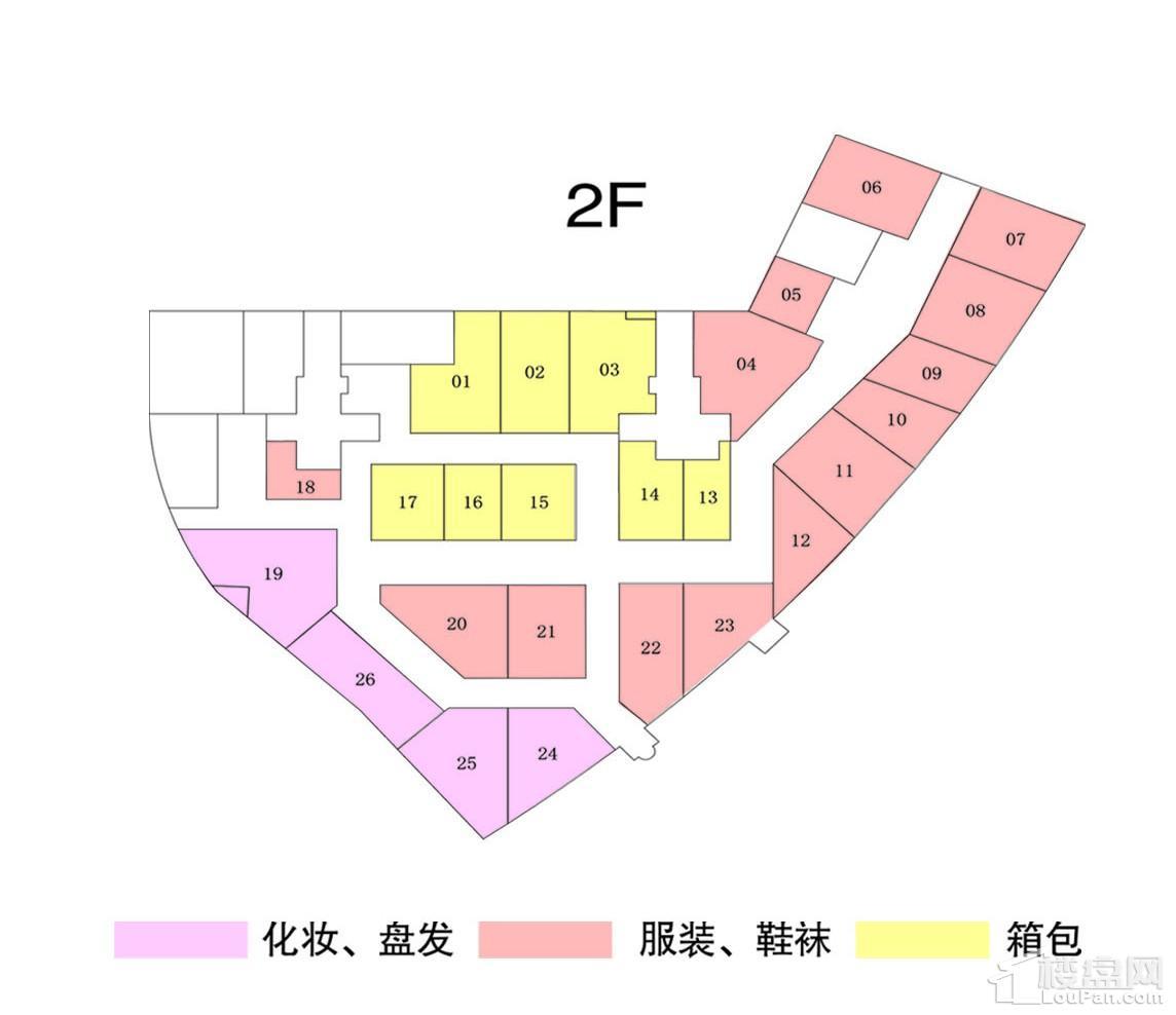 二楼商铺平面规划图