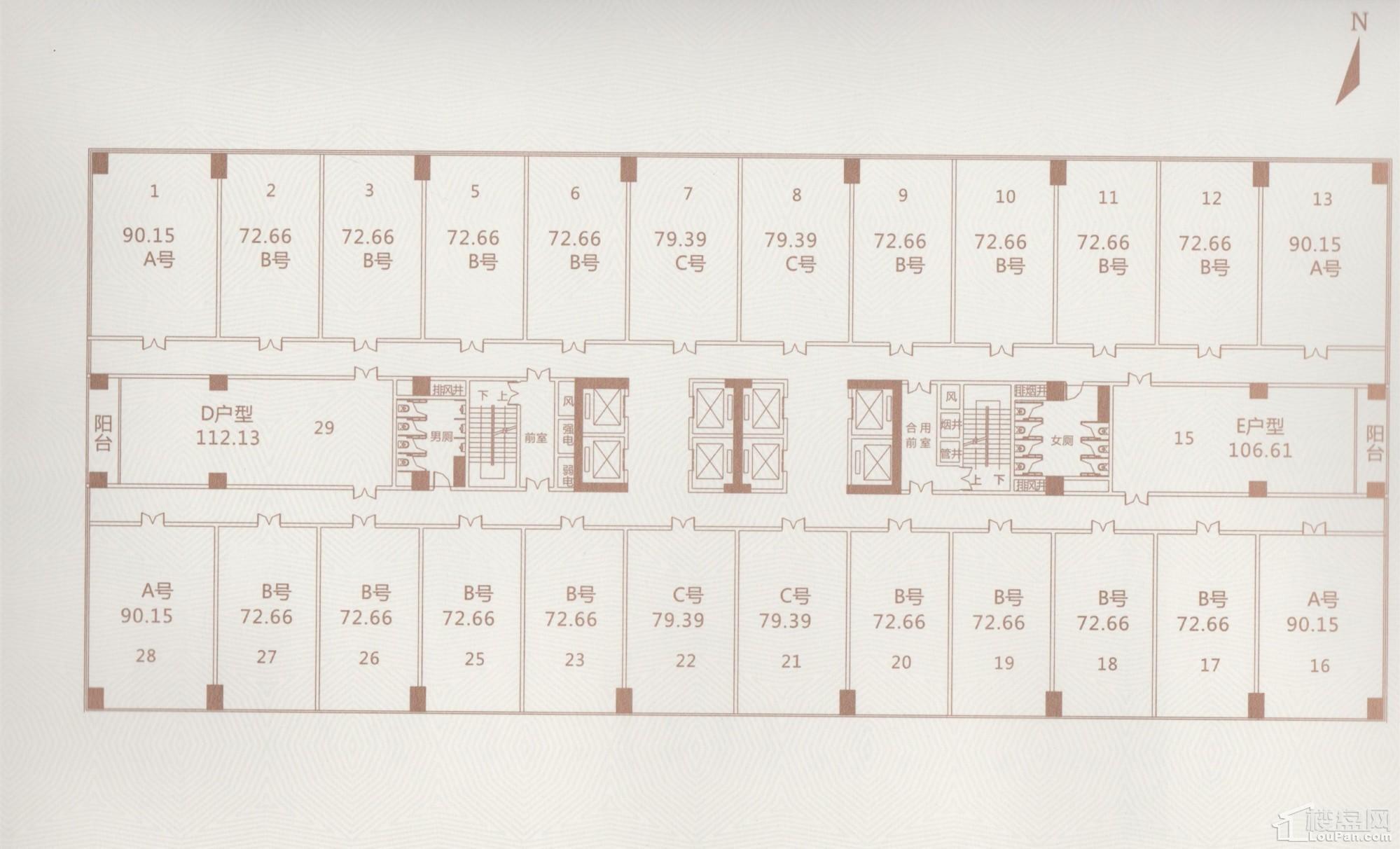 2#楼5F-23A